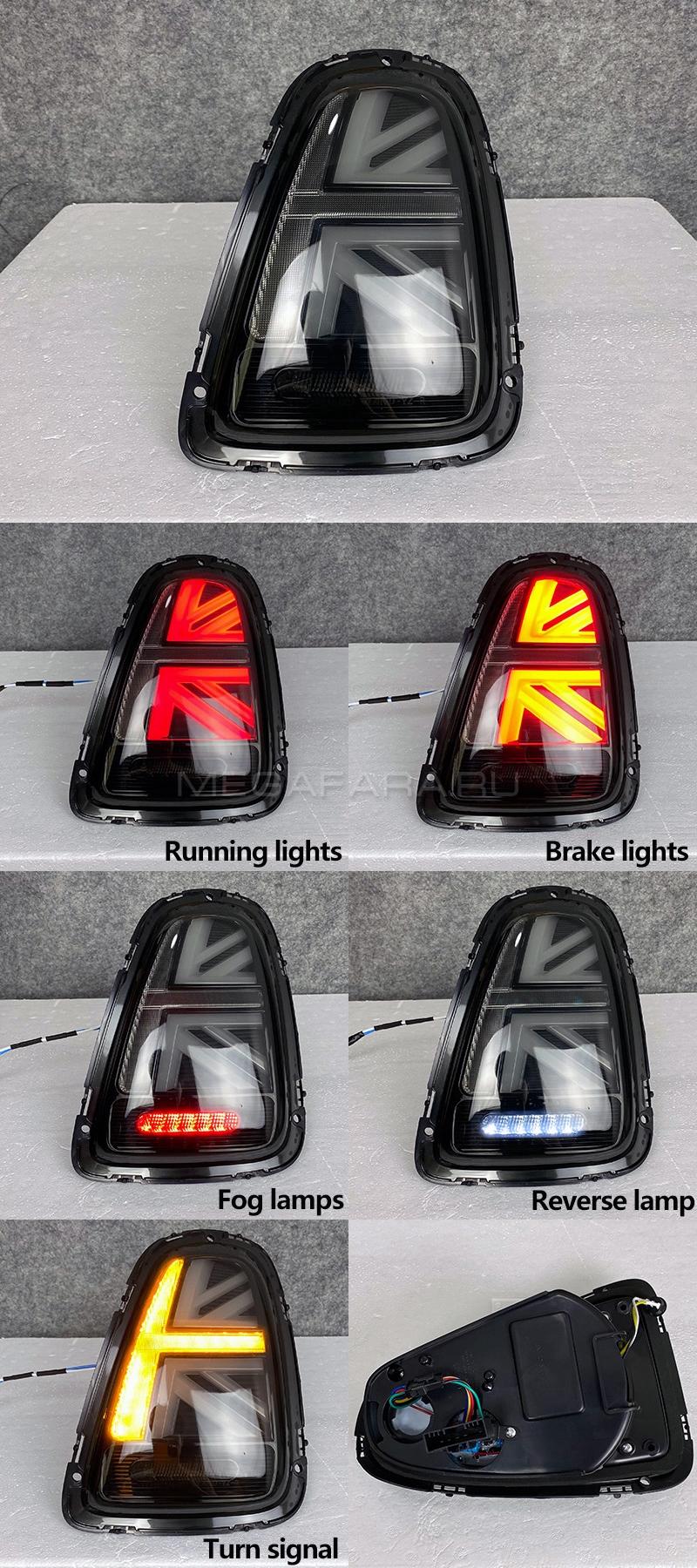 Задние фонари Мини Купер R56 Union Jack 2007-2013 V3 type ТЕМНО-ДЫМЧАТЫЕ [Комплект Л+П; Светодиодные]