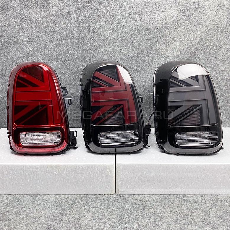 Задние фонари Мини Купер Кантримен F60 Union Jack 2010-2020 V3 type ТЕМНЫЕ [Комплект Л+П; Светодиодные]