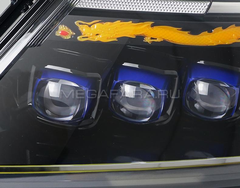 Передние фары Ниссан Патрол Y62 V5 type [Комплект Л+П; светодиодные; электрокорректор; яркие ходовые огни; динамичный поворотник]