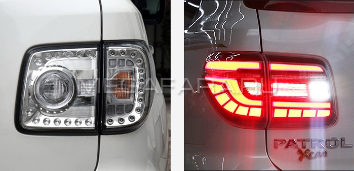 Задние фонари Ниссан Патрол Y62 2011-2019 V3 type [Комплект Л+П; светодиодные; бегущий поворотник]
