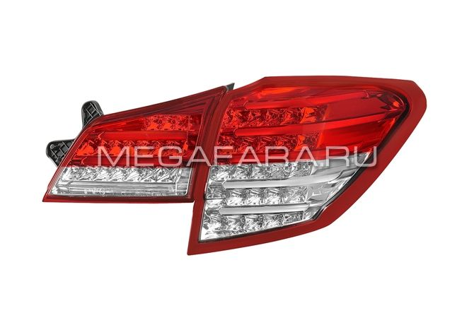 Задние фонари Subaru Outback B14 Red White Color V2