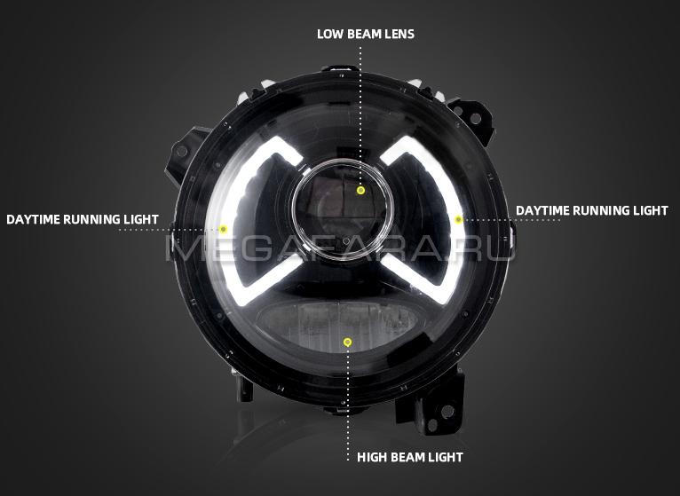 Передние фары Сузуки Джимни 2018-2020 V1 type [Комплект Л+П; ходовые огни; FULL LED]