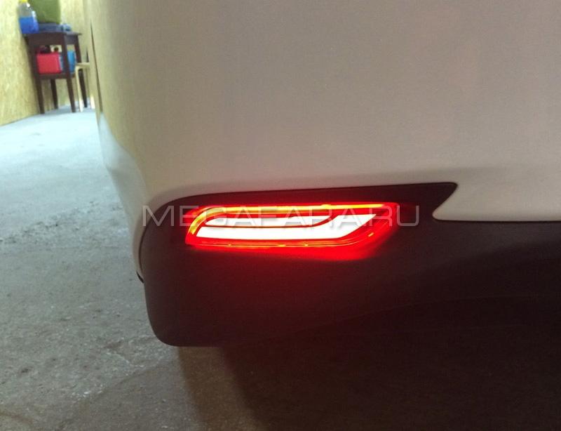 Светодиодные КАТАФОТЫ в задний бампер Тойота Камри 70 V10 type