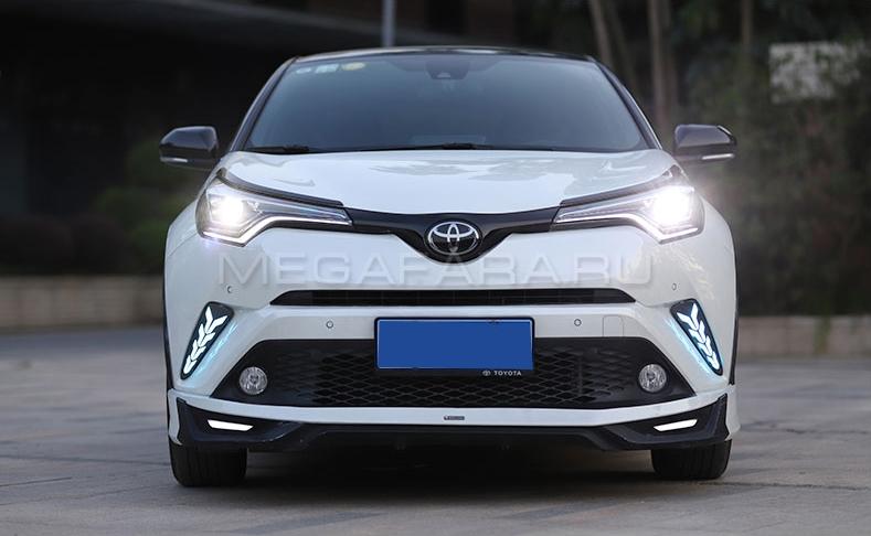 Передние светодиодные фары Тойота C-HR 2018-2020 V1 type [Комплект Л+П; ходовые огни; FULL LED]