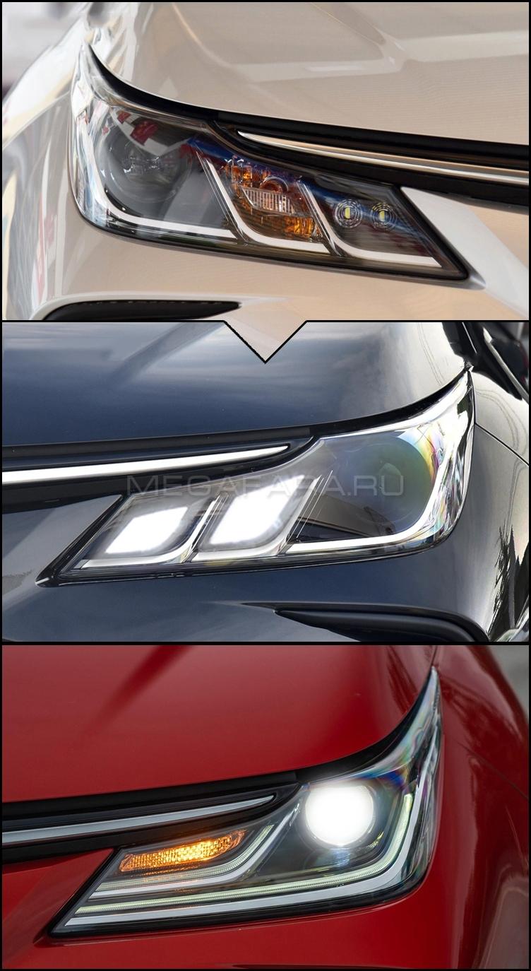 Передние светодиодные фары Тойота Королла Е210 2019-2021 V2 type