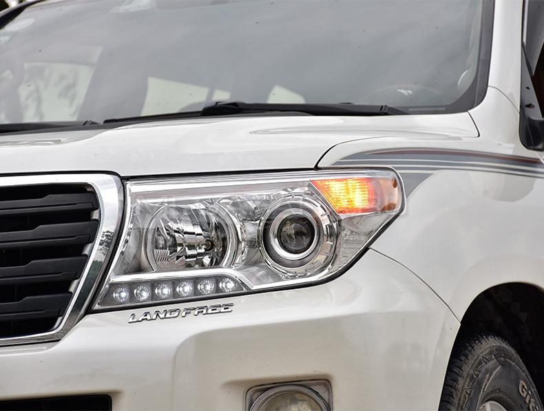 Передние фары Ленд Крузер 200 V5 type [Комплект Л+П; Биксеноновая линза; электрокорректор; яркие ходовые огни]