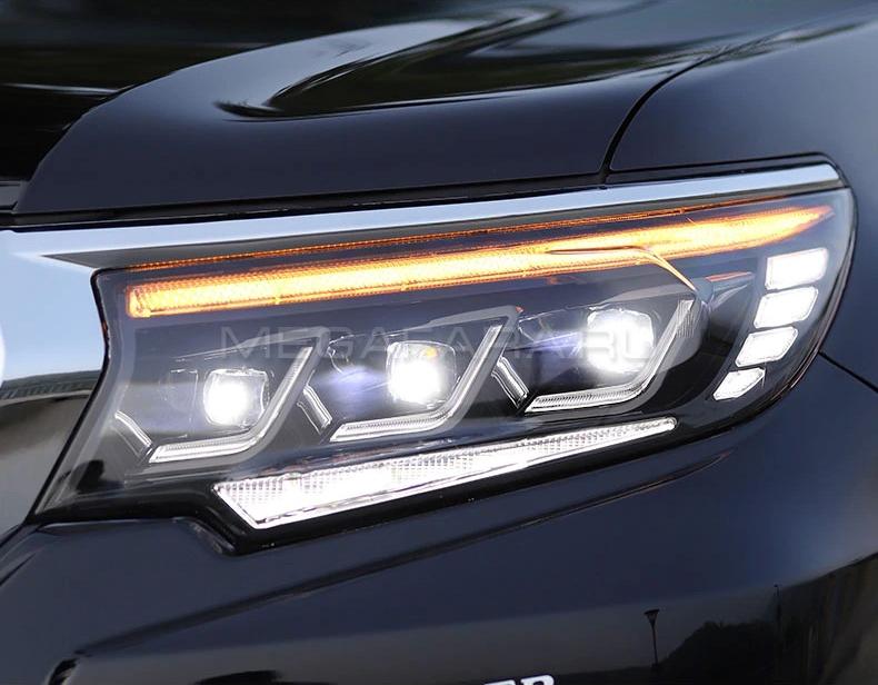 Передние фары Тойота Ленд Крузер Прадо 150 2017-2020 V12 Type | Светодиодные фары Тойота Ленд Крузер Прадо 150 2017-2020