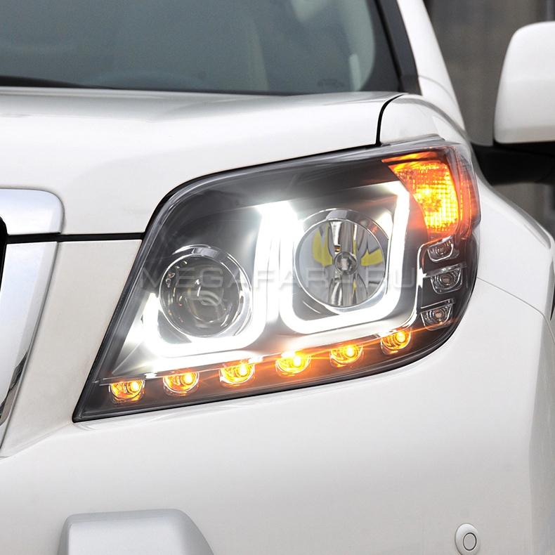 Передние фары Тойота Ленд Крузер Прадо 150 2009-2013 V2 Type