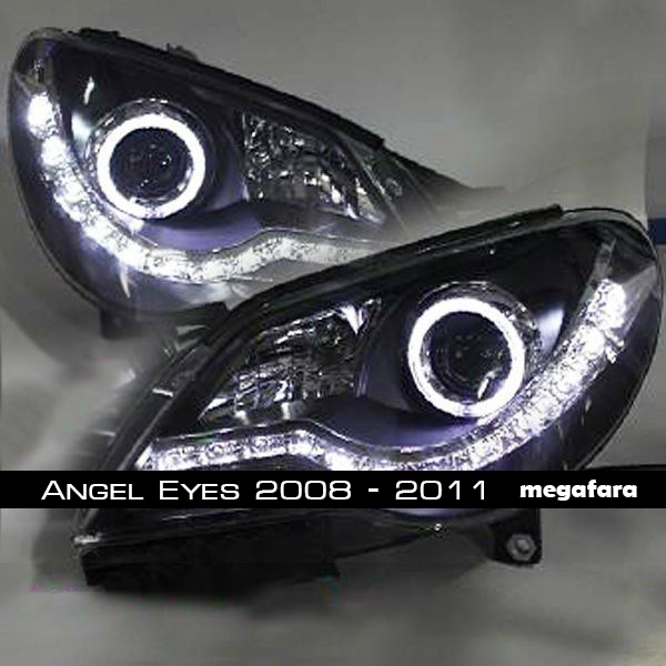 Передние фары Volkswagen Bora Angel Eyes LED 2008 - 2011