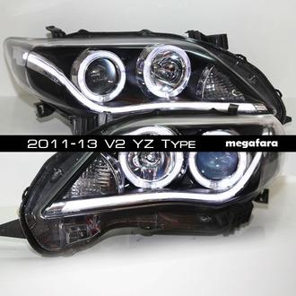 Альтернативная оптика Toyota Corolla 2011-13 V2 YZ Type