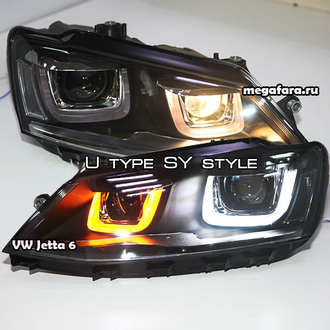 Альтернативная оптика VW Джетта 6 (Jetta 6) SY type U style